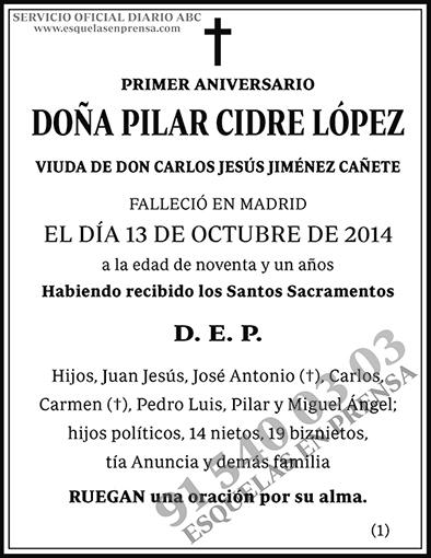 Pilar Cidre López